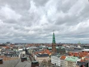 denmark, views from christiansborg castle
